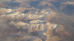 Aerial view of ALPS Mont Blanc Massif Stock Footage