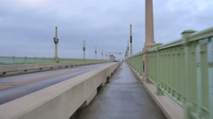 St Augustine Bridge of Lions Stock Footage
