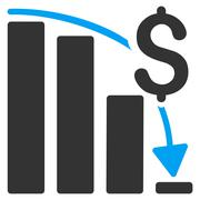 Financial Crisis Icon Stock Illustration