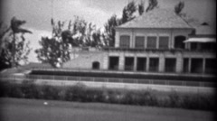 1934: Hialeah Park Race Track family private tour before race. HIALEAH, FLORIDA Stock Footage