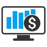 Stock Market Monitoring Icon Piirros