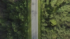 Aerial photography - road trip, endless road - stock footage