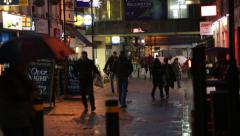 English Christmas shoppers in the evening, England, Europe Stock Footage