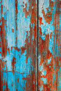 Blue wooden background. Weathered color planks azure texture macro Stock Photos