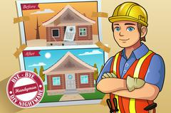 Handyman or Contractor Service Stock Illustration