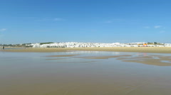 Conil village from seashore Stock Footage