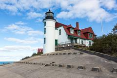 Point Betsie Lighthouse, Frankfort Michigan - stock photo