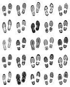 prints of shoe - stock illustration
