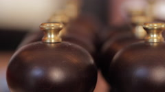Pepper mill macro Stock Footage