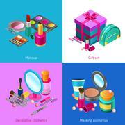Stock Illustration of Cosmetics isometric set