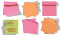 Set of sticky notes. Vector illustration. Eps 10. - stock illustration