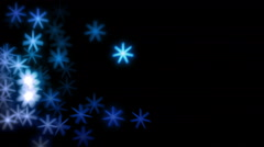 Winter Snowflakes Overlays - stock footage
