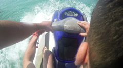 Jetski waverunner pov ride Stock Footage