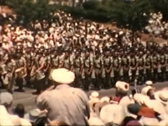 Troops Marching in Israeli Military Parade (Vintage 1950's) Stock Footage