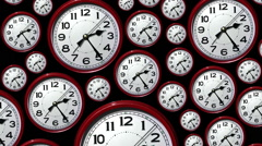 Time lapse clock faces going backwards. Back in time. Stock Footage