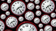 Stock Video Footage of Time lapse clock faces going backwards. Back in time.