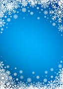 Snowflakes winter background - stock illustration