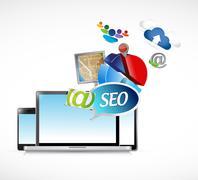 Stock Illustration of seo electronics media tools illustration