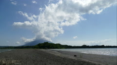 View on vulcano Concepion from Jesus Maria point, time lapse Stock Footage
