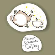 The Sticker Collection - The Tea Days: Kung Fu Piirros