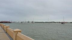 St Augustine seawall - stock footage