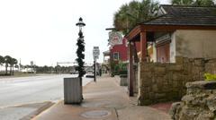 St Augustine tourist pov Stock Footage