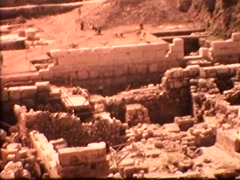 Excavation at the Western Wall (Vintage 1950's) Stock Footage
