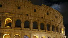 Stock Video Footage of Colosseum at night, rome, italy, timelapse, 4k