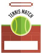 Tennis Match Flyer Illustration - stock illustration
