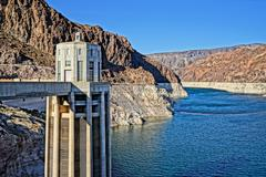 View from Hoover Dam - stock photo