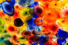 Colorful glass art Stock Photos