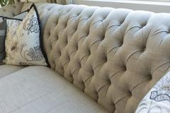 Beautiful Abstract of Luxurious Couch and Pillow Detail. Stock Photos