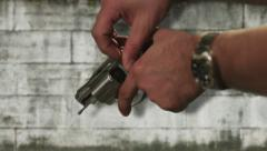 Loading a Handgun Close Up - stock footage