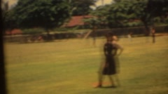 Baseball, Hawaiian children 1960's Stock Footage