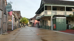 St George Street St. Augustine - stock footage