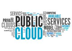 Stock Illustration of Word Cloud Public Cloud