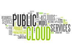 Word Cloud Public Cloud Stock Illustration