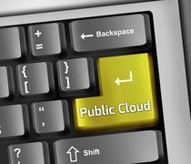 Stock Illustration of Keyboard Illustration Public Cloud