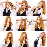 Young woman set Stock Photos