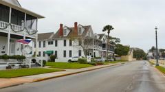St. Augustine Officers Quarters Stock Footage