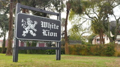 Stock Video Footage of White Lion St. Augustine FL