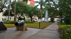 Town Square St Augustine FL Stock Footage