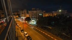 Timelapse of Tel-Aviv street Stock Footage