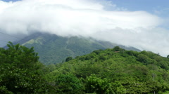 View on vulcano Concepion - stock footage