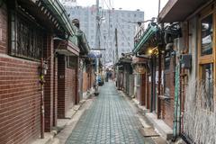 jongno old alleyways - stock photo
