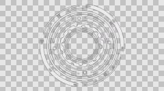 Stock Video Footage of Rotating Tech Element