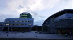 He Robert Gordon University (RGU) in Aberdeen time lapse footage. Stock Footage