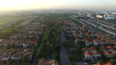 Aerial view of good environment house in good environmental Stock Footage