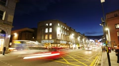 Time Lapse Footage of Traffic on Union Street in Aberdeen, Scotland. - stock footage