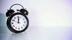 Classical twin bell alarm clock Stock Footage
